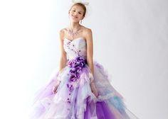 本気で可愛いカラードレス20選!ふんわりマシュマロカラーで妖精みたいな花嫁さんに♪のトップ画像