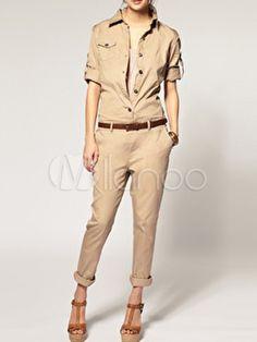 Modern Cotton Belted Women's Jumpsuit $28.99