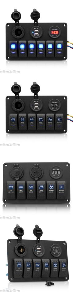 Other Virtual Reality Accs: 12V 24V 6 Gang Dual Usb Marine Boat Car Rocker Switch Panel Waterproof Led Light -> BUY IT NOW ONLY: $41.99 on eBay!