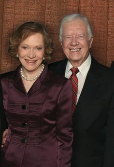 Jimmy Carter and Rosalynn Carter, former President and First Lady, humanitarians, Each year since 1984,     give a week of their time to help  build homes for Habitat for Humanity.