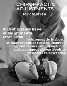 chiropractic for babies...this is one of the things i look forward to most after having our kids... their first adjustment!!