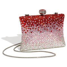 Natasha Couture Rhinestone Clutch found on Polyvore