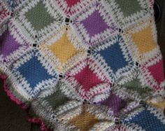 Tunician Crochet Afghan  52x36
