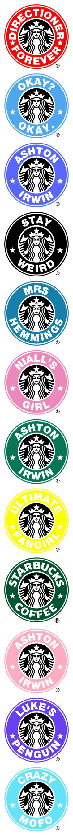 """starbucks"" by miss-971 ❤ liked on Polyvore featuring one direction, backgrounds, logo, other fillers, filler, starbucks logos, other, 5sos, ashton and fillers"