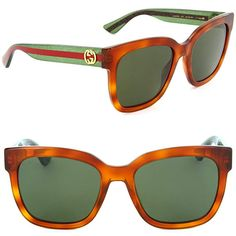eeb093c470 Gucci GG 0034S 003 Havana Plastic Round Sunglasses Green Lens Review Cool  Sunglasses