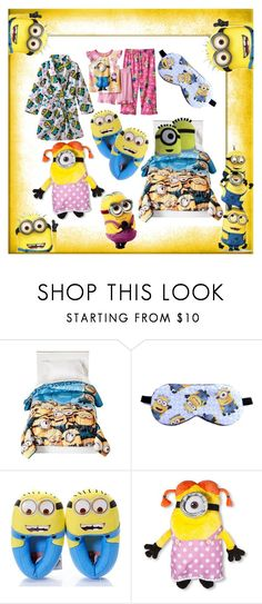 """Minions girls sleepwear"" by gothbear13 ❤ liked on Polyvore"