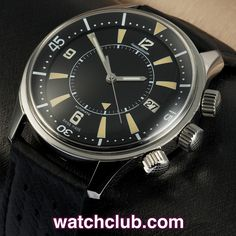 Jaeger-leCoultre Memovox Tribute to Polaris REF: Q2008470 | Year Apr 2009 - This tribute to JLC's legendary 1960's Polaris divers watch is one of only 768 pieces made! Totally complete with its original JLC 'historic green' box, warranty certificate, 'tribute to..' book and spare rubber dive strap. This modern reissue shares many of the original's iconic features, such as the superdomed Plexiglas, rotating inner bezel, black luminous dial and automatic alarm function - for sale at Watch Club