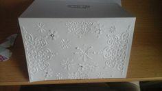 Snowflake embossed card.