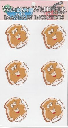 Wacky Whiffer Scratch and Sniff Stickers Peanut Butter S.Scented! ITM#SII042E3 #WackyWhiffer #ScratchSniff