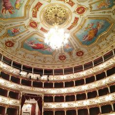 The amazing Teatro Municipale in Reggio Emilia - Instagram by velvetescape