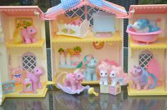 Vintage My Little Pony 'Tiddley Winks' Lullabye / Lullaby Nursery Set Boxed Newborn Baby - G1 - 1984 - 1985 - Rare - MLP Teajay Sweet Celebration Lickety Split Tappy Dangles Teeny Tiny Little Whiskers Little Rattles Bright Bouquet ATCTTeam https://www.ets