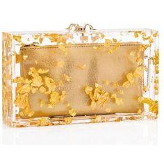 PANDORA (5.555 BRL) ❤ liked on Polyvore featuring bags, handbags, clutches, beige purse, handbag purse, lucite handbags, lucite purse and man bag