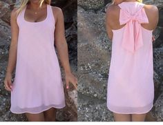Summer Hot Trend Chiffon w/Bow Knot in Back Sundress 8 Colors S-3XL