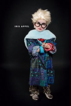 Kid's Costumes of Fashion Icon #IrisApfel #Halloween #Fashionistas