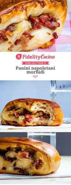 Panini napoletani morbidi Italian Fast Food, Italian Recipes, Diabetic Slow Cooker Recipes, Bread And Pastries, Panettone, Antipasto, Panes, Gnocchi, Bread Recipes