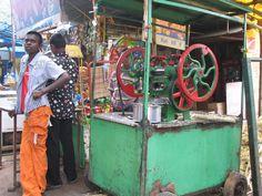 Banaglore India - sugar cane juicer at Bannerghatta National Park