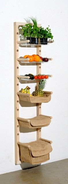 Stunning 40 Smart DIY Fruit Storage Ideas for Better Kitchen Organization garde Fruit And Vegetable Storage, Fruit Storage, Food Storage, Storage Ideas, Produce Storage, Pallet Storage, Smart Storage, Kitchen Organization, Kitchen Storage