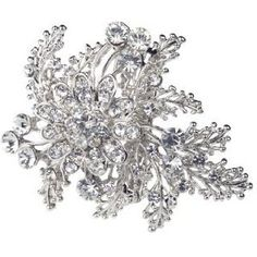 """Vintage Crystal Flower Brooch / Hair accessory Crystal detail An amazing vintage inspired brooch and hair accessory with crystal flower detail. wedding prom"