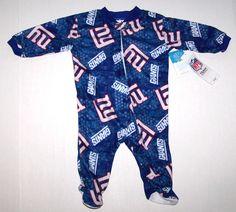 Nwt New York Giants NY Logo Blanket Sleeper Pajamas NFL Football Blue Cute Boy #NFLTeamApparel #NewYorkGiants New York Giants Logo, New York Giants Football, Nfl Football, Blanket Sleeper, Nfl Team Apparel, Cute Boys, Wetsuit, Pajamas, Best Deals