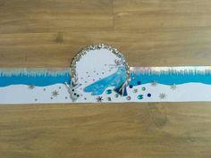 Verjaardagsmuts frozen. Versieringen gemaakt met big shot. Moet uiteraard nog rond geniet en versierd met bogen, slierten etc.