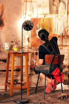 One-to-Watch artist Anna Madia (France) #SaatchiArt |  http://magazine.saatchiart.com/articles/artnews/saatchi-art-news/one-to-watch/anna-madia