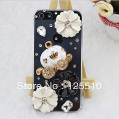 Aliexpress.com : Buy Free Shipping For Apple iPhone 5g Cover Case Transparent with Crystal Rhinestones Pumpkin Car from Reliable case for iphone 5 Pumpkin Car suppliers on Skytech Global Technology INC. $8.87