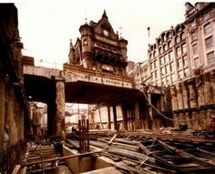 The old St Enoch's Sq Underground station floating