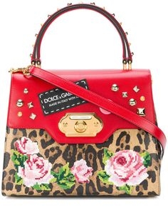 0a0aa2ef75f7 Dolce   Gabbana Welcome printed tote Brown Leather Handbags