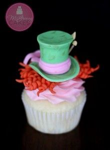 mad hatter cupcake tutorial