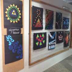 """Exposición """"diseño en base a un patrón"""" 7º básico/2015"""