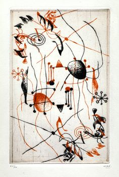 Joan Miro - Red and Black Series