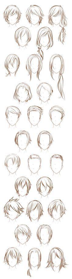 Desenho de cabelo Manga Character Design References Ideas - Nail Effect Hair Sketch, Sketch Art, Drawing Sketches, Sketching, Anime Sketch, Sketch Ideas, Hair Style Sketches, Sketches Of Girls, Boy Sketch