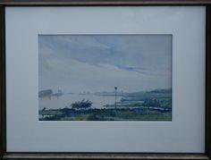 AW Verhorst Dutch IJssel near Kampen water color aquarel 1933 (58x44cm)
