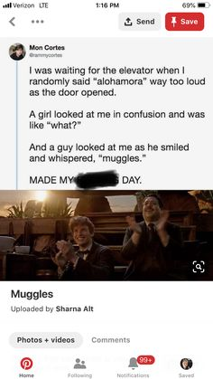 """I do random stuff like that all the time. My friends have got used to it by now. But my dad still looks at me like """"WTF!"""" My dad clearly doesn't know me! Harry Potter Jokes, Harry Potter Fandom, Harry Potter World, Hogwarts, Yer A Wizard Harry, Fandoms, Harry Potter Universal, Book Memes, Tv"""