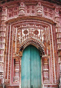 Terracotta art seen in a temple at Aantpur, West Bengal , India. Mother India, Building A Door, Indus Valley Civilization, Amazing India, World Religions, West Bengal, Largest Countries, Nepal, India Travel
