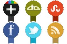 Badge Social Icons - Artwork by Land-of-Web Social Network Icons, Social Icons, Desktop Icons, Website Icons, Design Development, Web Design, Free Icon, Bulletin Boards, Badges