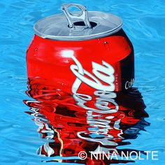 COKE CAN IN MY POOL, 2007, LIMITED EDITION - LIGHTBOX, 70 x 70 cm, 3.200 EUR