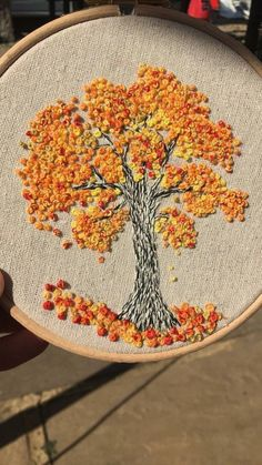 Embroidery hoop Cherry Blossoms, hand embroidered hand made one of a kind pink b.Hoop art Indian Jewellery machine embroidery linen with - Salvabranihow to make french knots embroideryhand embroidery stitches step by stepCherry tree blossom for Angie Hand Embroidery Videos, Creative Embroidery, Hand Embroidery Stitches, Crewel Embroidery, Embroidery Hoop Art, Ribbon Embroidery, Cross Stitch Embroidery, Embroidery Needles, Floral Embroidery Patterns