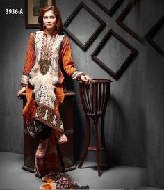 Tawakkal Artistry Chiffon Suit Collection 2015 3936_A