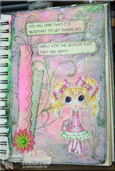 Pez-A-Doodle Designs - Mixed media art journaling with ColourArte