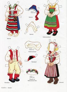 book - libro - scandinavian girl and boy - paper doll - sweden Paper Toys, Paper Crafts, Viking Images, Paper Doll House, Costumes Around The World, Origami Paper Art, Swedish Christmas, Sasha Doll, Thinking Day