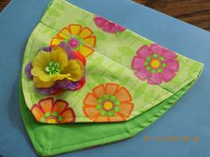 Summer Luau - Bright Green w/Flowers - Over the Collar Dog Bandanna w/Lei Flower Accent - FREE SHIPPING - sizes S-M-L by PrettyPuppiesbyJ on Etsy