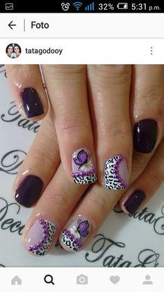 Butterflies mean new life after a struggle Fibromyalgia Awareness Diana, Butterflies, Nail Designs, Nail Art, Nails, Life, Beauty, Rose Nails, Make Art