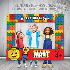 Lego Photo Booth Frame de partij van de door NYCPartyPrintables