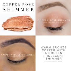 Copper Rose Shimmer/Glitter - ShadowSense [was shimmer when limited edition; returning as glitter in permanent catalog] Colorful Eyeshadow, Colorful Makeup, Makeup Collage, Shadow Sense, Makeup Supplies, Shimmer Eyeshadow, Eyeshadows, Color Collage, Long Lasting Makeup