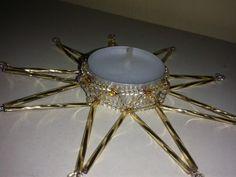 Zlatý korálkový svícen