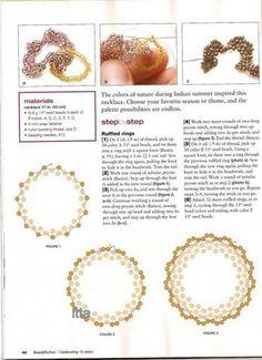 B&B Creative Beading by BeadworkBrasil Beaded Flowers Patterns, Beaded Jewelry Patterns, Bracelet Patterns, Beading Patterns, Beaded Jewellery, Beading Projects, Beading Tutorials, Ruffle Beading, Peyote Beading