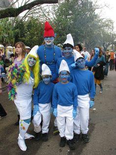 smurfs family costume