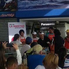 Panasonic presente en Mercado del Marisco #sushi