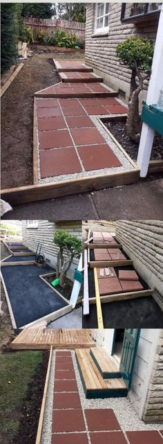 paver tiles and gravel stones porch steps last forever in your garden  and require minimal maintenance. Get ideas for building paver tiles
